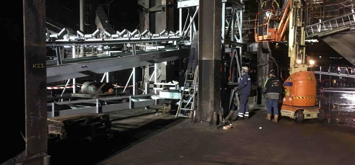 Production & mounting of conveyor for sinter plant (SiFa)
