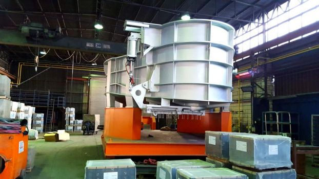 Electric arc furnace shell 4